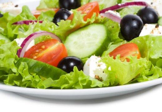 Рецепты постных блюд: салат с помидорами и зеленью